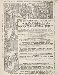Advert for the Globe Pharmacy